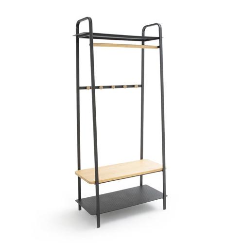 ou trouver deco chambre masculine vestiaire portant vêtement bois et noir élégant simple facile pratique fonctionnel minimalisme