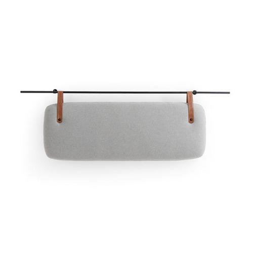 ou trouver deco chambre masculine tête de lit murale métal tissus lanière cuir sobre moderne