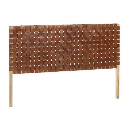 ou trouver deco chambre masculine tête de lit moderne chaleureuse cuir tissage moderne tendance