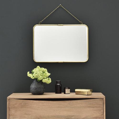ou trouver miroir deco entree style rétro vintage barbier chainette