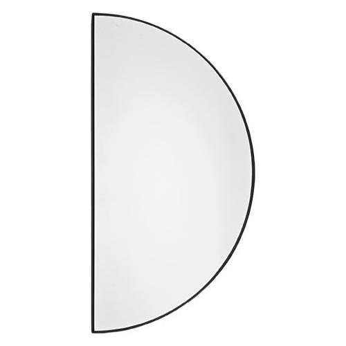 ou trouver miroir entree design demi cercle encadrement noir