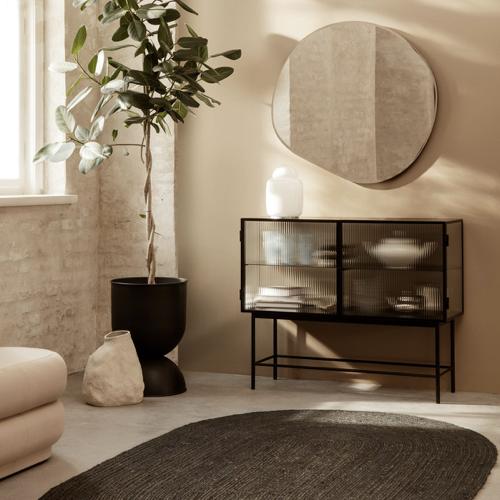 ou trouver miroir entree design forme organique original et moderne