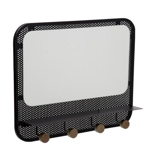 ou trouver miroir pratique entree noir avec 4 patères décoration murale