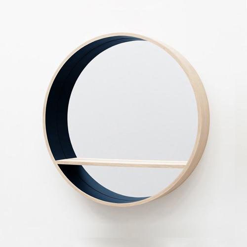 ou trouver miroir pratique entree petite étagère made in france bois bleu canard rond