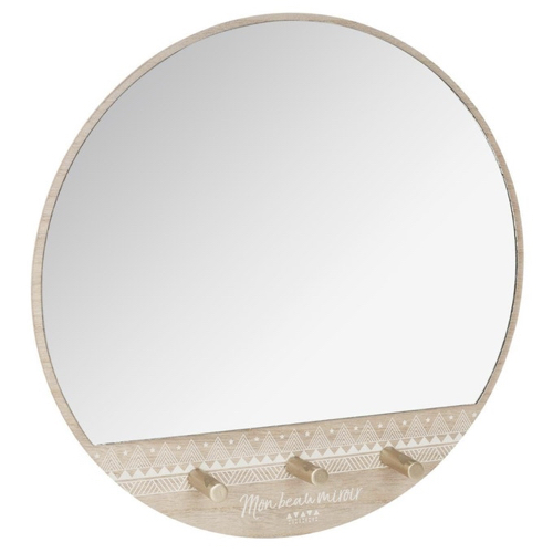 ou trouver miroir pratique entree patère petit prix bois rond