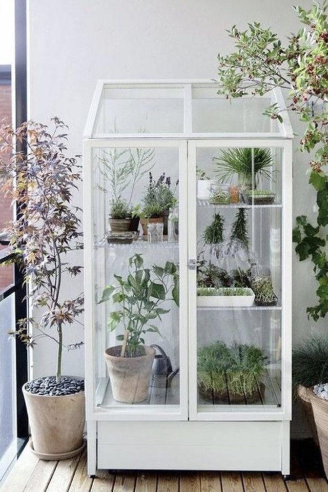 petite serre interieur decoration exemple armoire intérieure extérieures vitrée