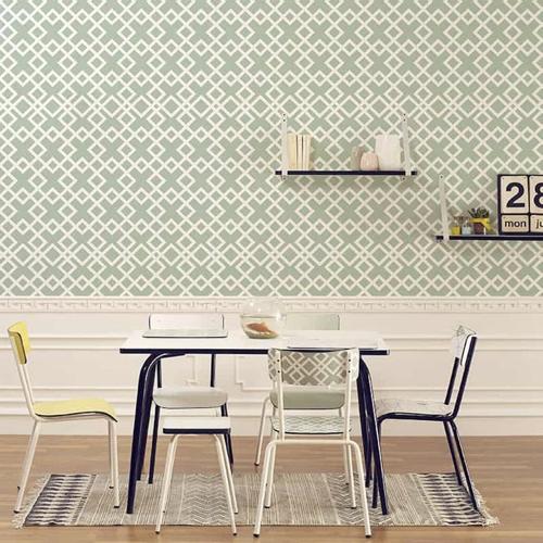 petite table coin repas decoration rectangulaire style école vintage