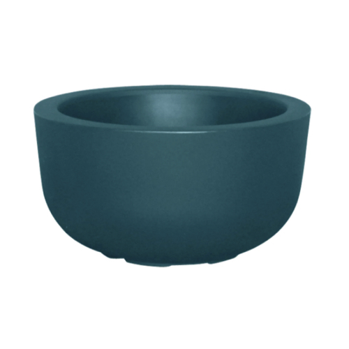 plante deco pot de fleur cache-pot résine recyclable bleu canard