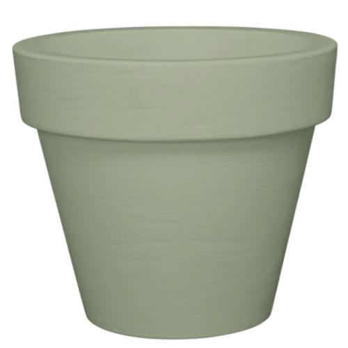 plante deco pot de fleur cache-pot forme classique vert sauge