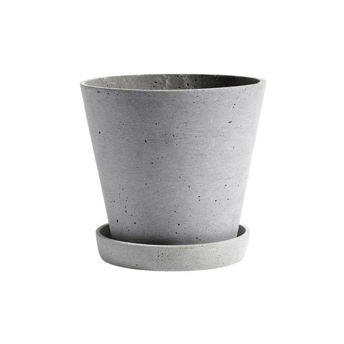 plante depolluante pot de fleur béton ciment moderne épuré