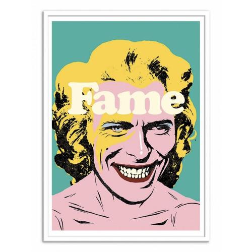 poster affiche musique rock decoration murale pas cher portrait bowie popart