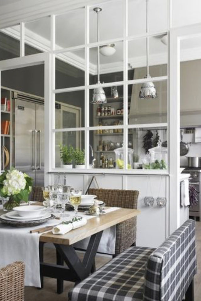 salle a manger verriere blanc exemple kinfolk moderne lumineux