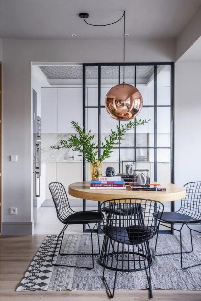 salle a manger verriere porte vitree élégance moderne coulissant