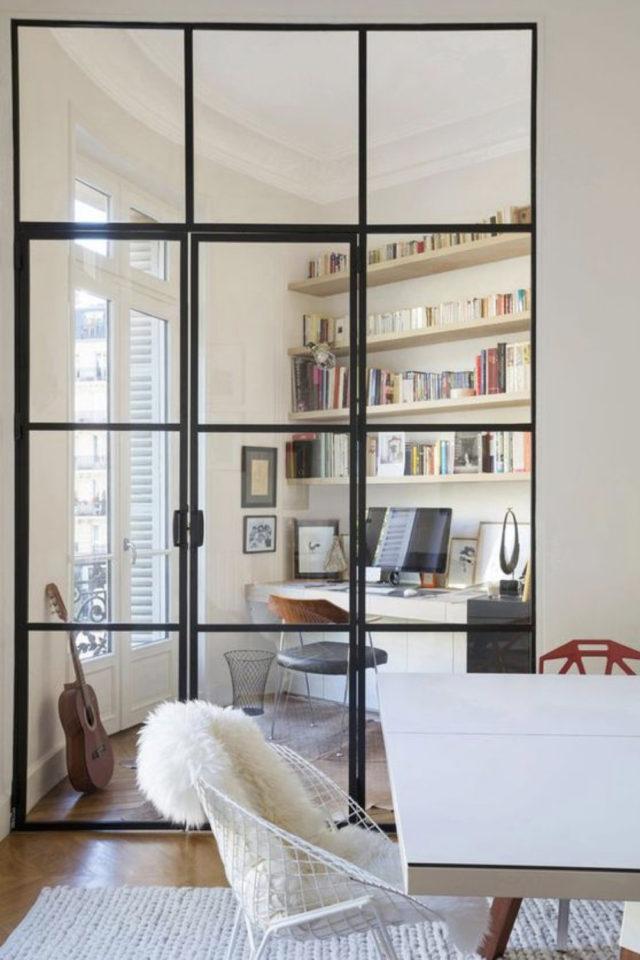 salle a manger verriere porte vitree séparation bureau calme luminosité