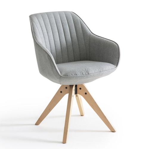 teletravail bureau salon deco chaise de bureau scandinave grise