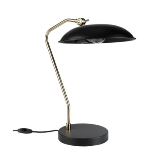 teletravail bureau salon deco lampe chic élégante classique noire