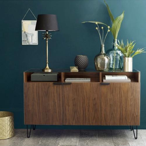 tendance 2021 vintage meuble mid century La Redoute buffet bois sombre ligne sobre
