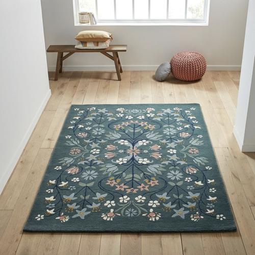 tendance campagne chic pas cher tapis imprimé floral