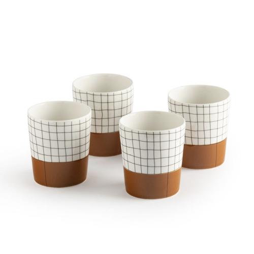 tendance deco hygge chaleureuse lot de tasse thé café blanc noir terracotta moderne
