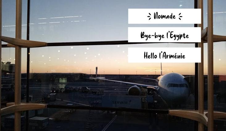 voyage mars 2021 Egypte Armenie escale France