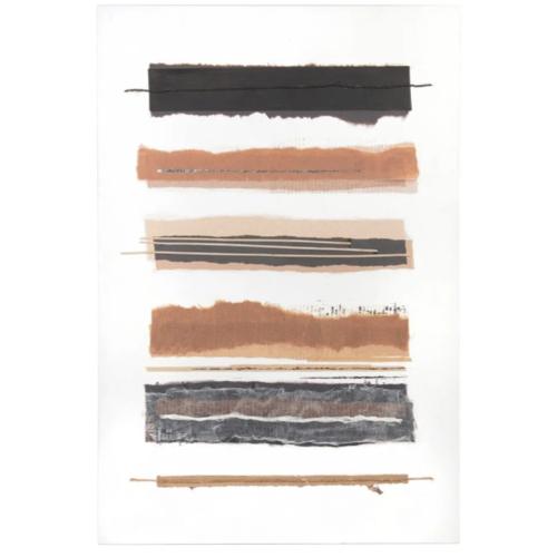 accessoire deco plus chaleureuse minimaliste slow affiche abstraite couleur moderne