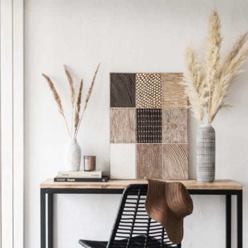 accessoire deco plus chaleureuse minimaliste slow tableau décoration murale bois naturel