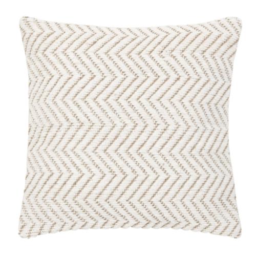 accessoire deco plus chaleureuse minimaliste slow coussin beige écru simple motif chevron