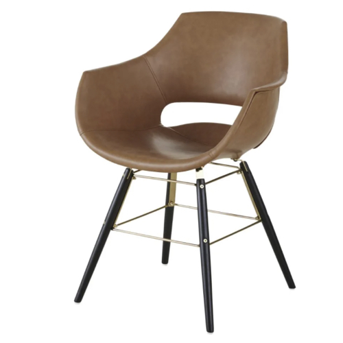 accessoire deco plus chaleureuse minimaliste slow salle à manger chaise fauteuil de table effet cuir