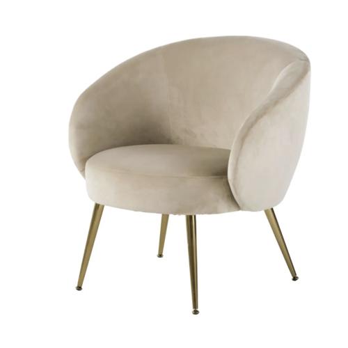 accessoire deco plus chaleureuse minimaliste slow petit fauteuil velours écru