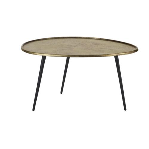 accessoire deco plus chaleureuse minimaliste slow table basse plateau laiton