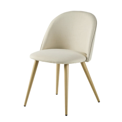 accessoire deco plus chaleureuse minimaliste slow chaise de salle à manger couleur écru slowliving