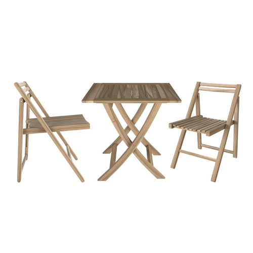 accessoire decoration jardin exterieur moderne ensemble petite table et chaises 2 personnes bois pliante