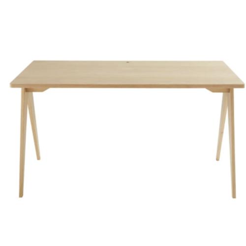 amenagement chambre petit bureau bois clair épuré pied compas