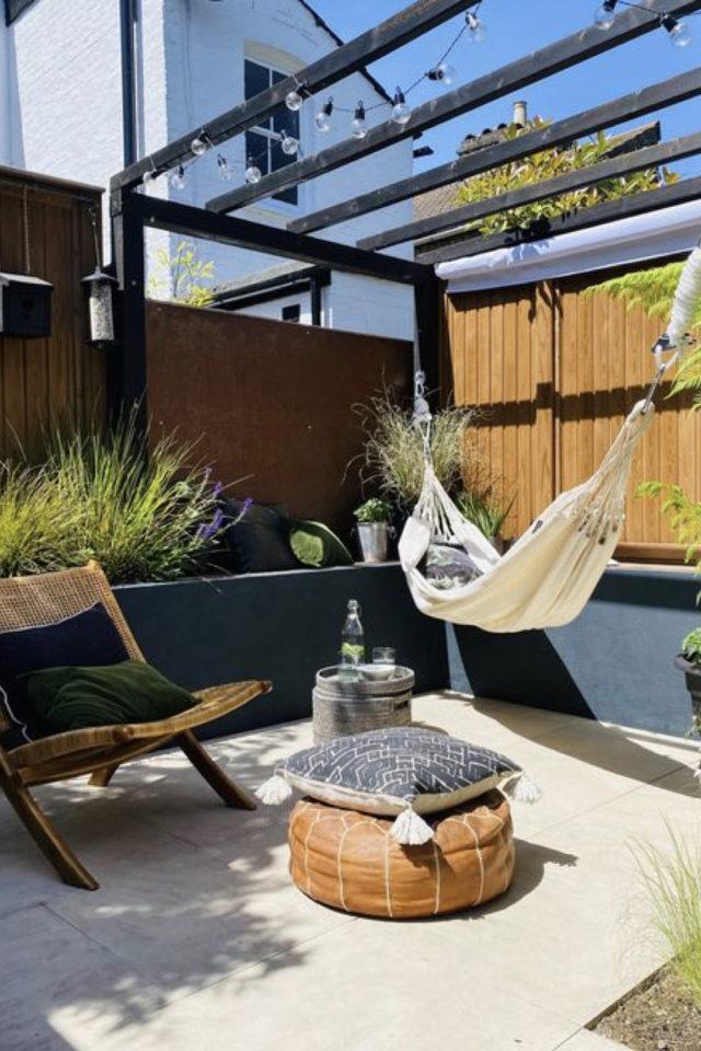 amenagement jardin ete sieste hamac terrasse repos