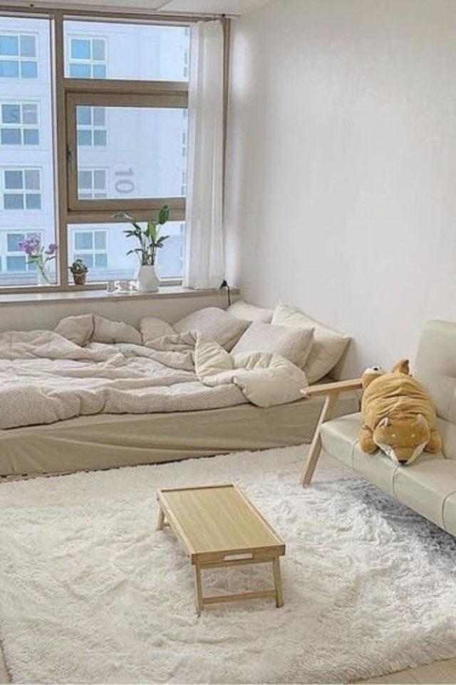amenagement studio style coreen moderne tapis tale basse mit une personne