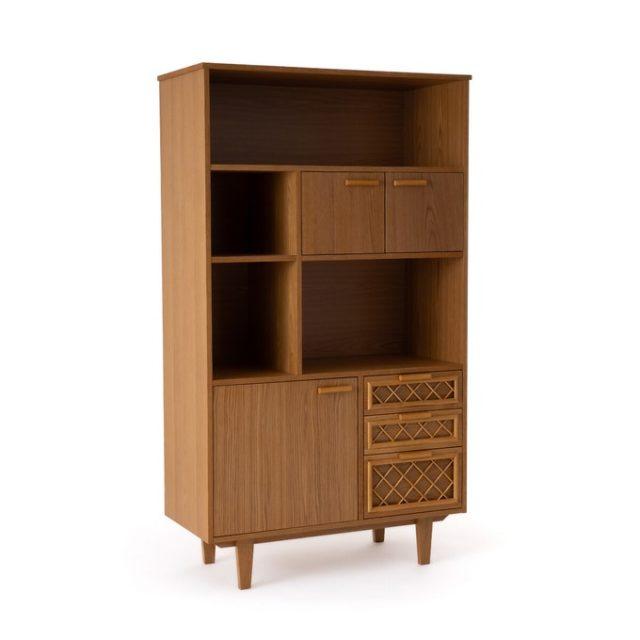 bibliotheque vintage pas cher bois rétro mid century modern