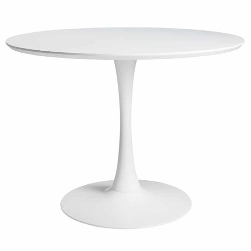 changer table salle a manger petit format 4 personnes blanche style vintage tulipe mid century