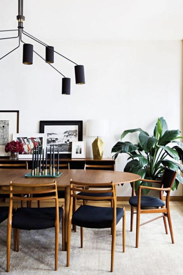 comment choisir table salle a manger élégante table en bis oblongue style vintage moderne mid century chaise bois