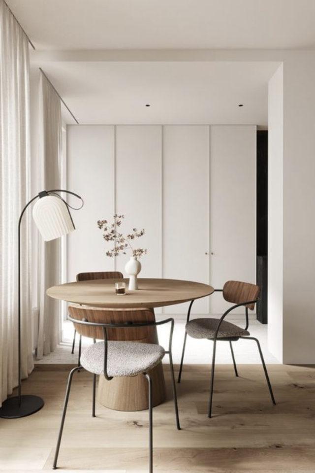 comment choisir table salle a manger design moderne slow intérieur format rond bois épuré