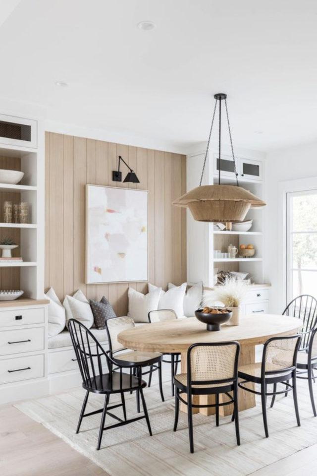 comment choisir table salle a manger format oval bois style simple blanc bois