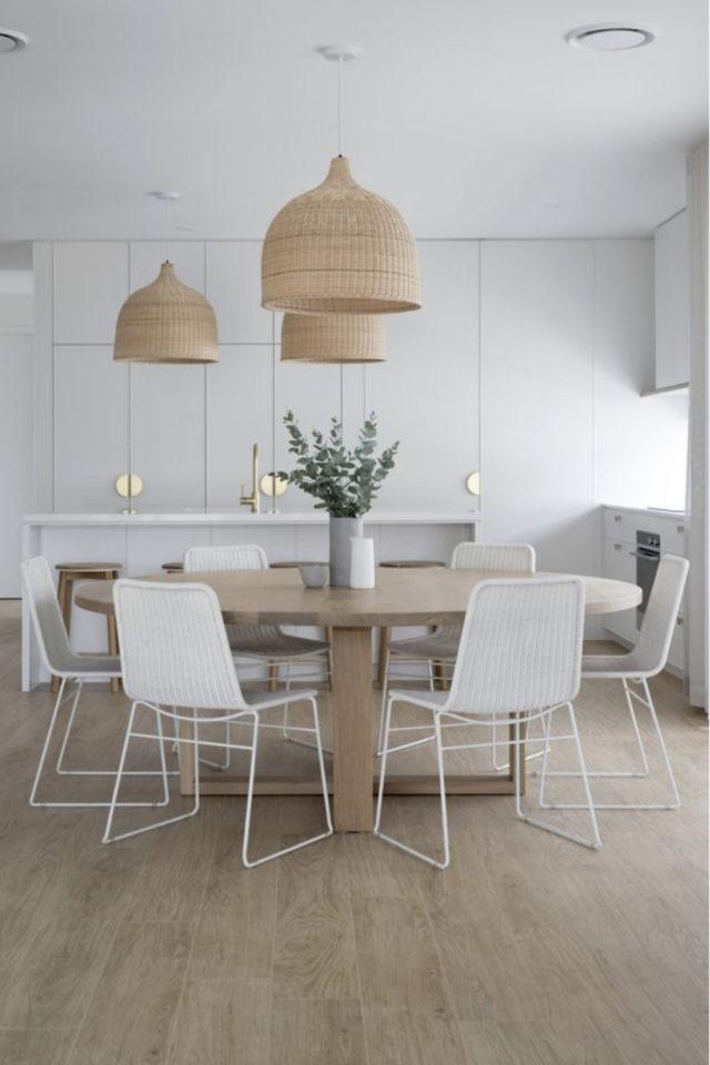 comment choisir table salle a manger moderne bois blanc naturel slow déco slow-intérieur