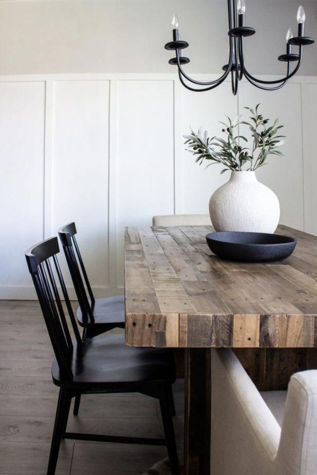 comment choisir table salle a manger bois foncé 4 personnes