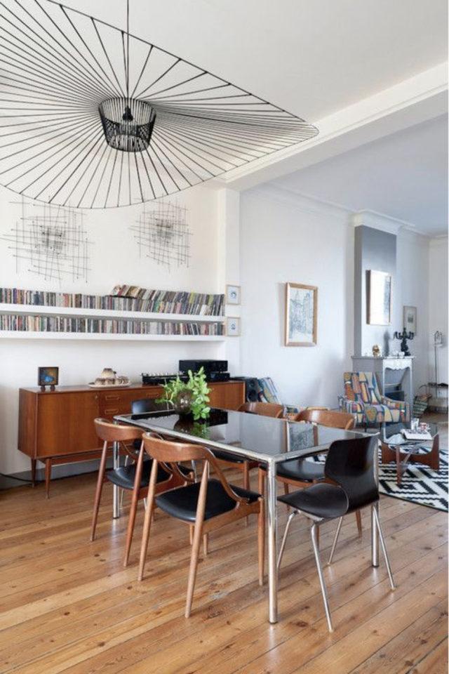 conseil choix table salle a manger décor caractère bois vintage mid century modern