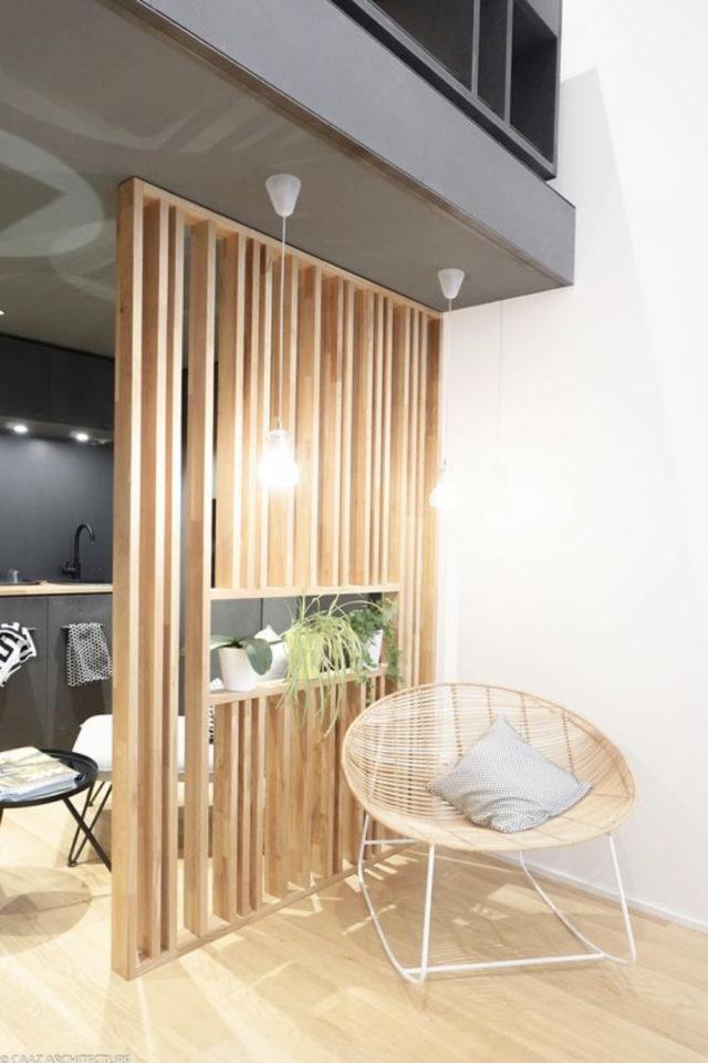 conseil deco amenagement claustras interieur tasseaux de bois moderne contemporain actuel