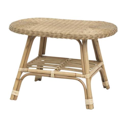 deco balcon boheme rotin naturel table basse cannage vintage