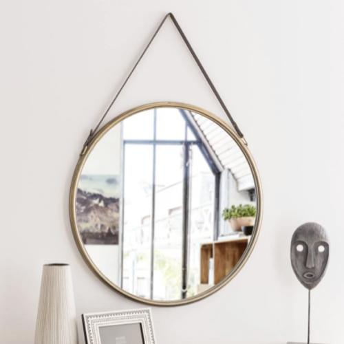 deco murale miroir a suspendre rond moderne élégant