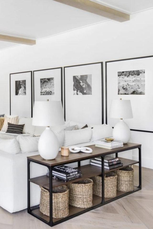 decoration 4 cadres exemple dessus de canapé salon séjour style moderne et élégant