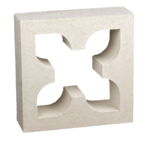 diy petite entree etagere claustras carré ajouré croix béton