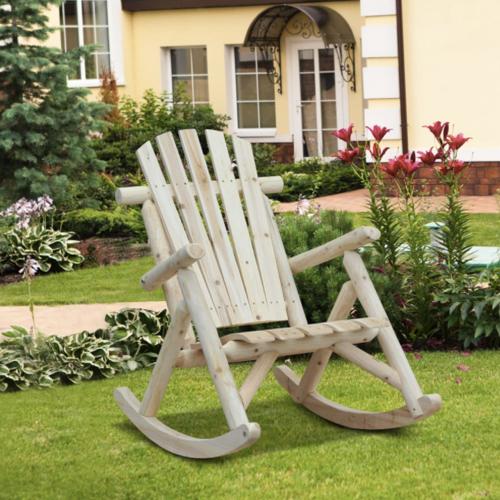 jardin exterieur tendance 2021 confort nature rocking chair bois