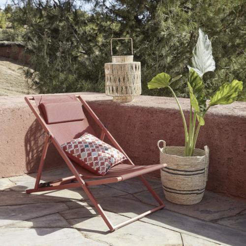 jardin exterieur tendance 2021 confort transat pas cher couleur terracotta